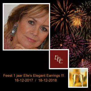 Feest !!! Elle's Elegant Earrings 1 jaar